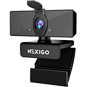 1080P Business Webcam with Dual Microphone & Privacy Cover, 2021 [Upgraded] NexiGo USB FHD Web Computer Camera, Plug and…