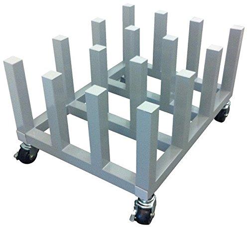 Signworld Heavy Duty Media Roll Mover Storage Cart Rack – Holds 16 Rolls