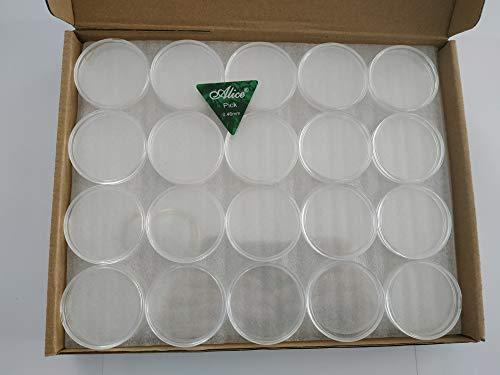 80 cápsulas de calidad de protección, piezas de moneda, tipo Silver Eagle States Unidos (diámetro 40,6 mm) en caja de almacenamiento de cartón para la conservación de monedas + accesorio de apertura.