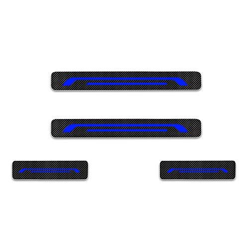 Einstiegsleiste Schutz Aufkleber Reflektierende Lackschutzfolie für Aygo Camry Yaris Auris Nouveau Prius Verso Avensis GT86 Land Cruiser CH-R Hilux Einstiegsleisten Blau 4 Stück