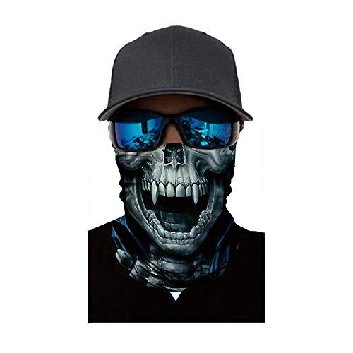 Juliyues Multifunktionstuch Herren & Damen - Atmungsaktiv & Schnelltrocknend - Wind Face Shield - Motorrad Gesicht Mundschutz Lustig Skull Chopper Mund-Tuch Halsschlauch Halstuch mit Motiv