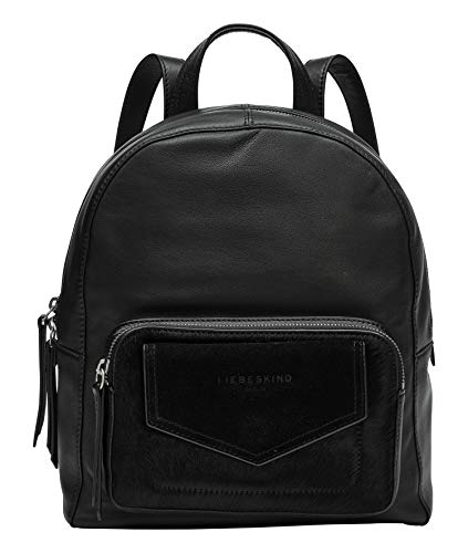Liebeskind Berlin Sara Backpack Rucksackhandtasche, Medium (31 cm x 28 cm x 12cm), black