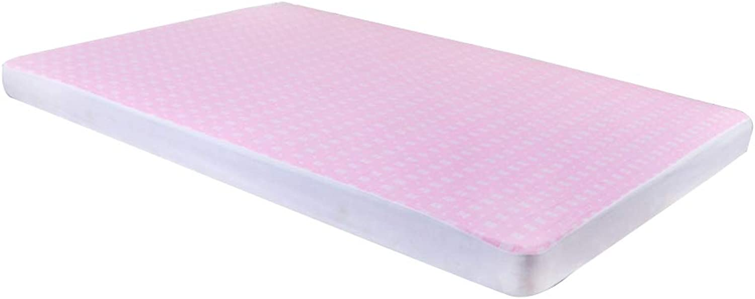 ZHAOHUI Mattress Predector Cotton Waterproof Breathable Ultra-Thin Hypoallergenic Soft Skin-Friendly Non-Slip, 2 colors, 4 Sizes (color   Pink, Size   200x230cm)