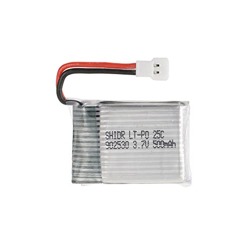 GoolRC - Set di 4 batterie da 3,7 V, 500 mAh, Li-po 4 in 1 USB, caricatore per batteria Wltoys F949 aereo Syma X5C X5SW X5SC X5HW Drone