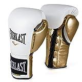 Everlast PowerLock Pro Fight Handschuhe, 284 g, Weiß / Gld PowerLock Pro Fight Handschuhe