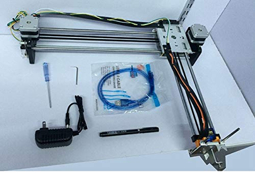 NO LOGO L-TAO-Pulley, Assemblé 1SET A4 Version Métal Drawbot iDraw Master Lettrage Robot Traceur XY Dessin Robot Kit (Taille : Argent)