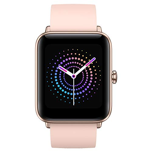 Ulefone Watch PRO - 40 Giorni Durata della Batteria, Smartwatch Impermeabile 5ATM, Schermo Retina 1,55', Cardiofrequenzimetro Fitness Tracker, Monitor Dell'Ossigeno nel Sangue(SpO2) Smartband Rosa