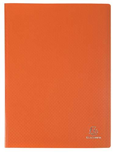 Exacompta 88224E Portalistini Opak in polipropilene opaco con buste interne lisce ad alta trasparenza, 20 buste e 40 facciate. Formato A4 Colore della copertina Arancione