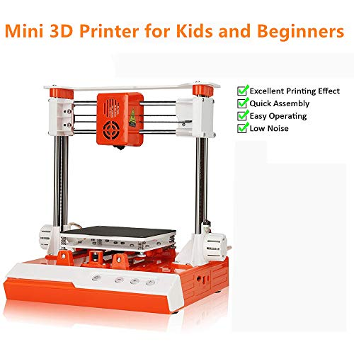 Mini 3D Printer for Kids,DIY Kit for Beginners Teens with 10M 1.75mm PLA Filament, Magnetic Removable Plate, Printing Size 4 x 4 x 4inch