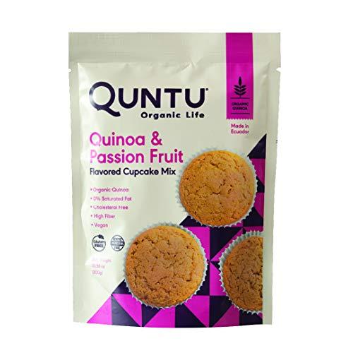 Quntu Quinoa Passion Fruit Cupcake Mix | Gluten Free, Vegan, Non-GMO | 10.58 Bag