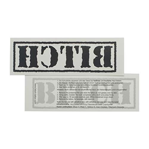 1 x Grand tatouage BITCH noir - lettrage noir - Sexy tatouage de peau temporaire (1)