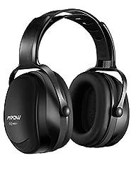 【進化版】MPOW 防音イヤーマフ 遮音値36dB 超弾力性ヘッドバンド 調整可能 ANSI S3.19&CE EN352-1認証済み 聴覚保護 騒音対策 防音ヘッドホン ブラック