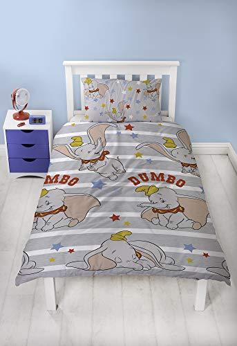 Dumbo Funda de edredón y Funda de Almohada, Multicolor