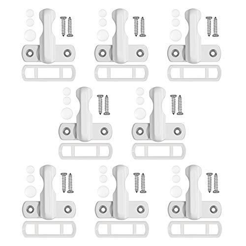 LiNKFOR 8PZ Chiusura di Sicurezza in Lega di Alluminio per Finestra e Porta Sash Jammers Serrature di Sicurezza per Porta e Finestra in UPVC PVC Blocca Porta e Finestra di Sicurezza per Bambini