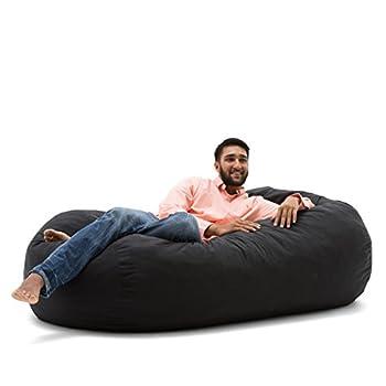 Big Joe Media Lounger Foam-Filled Beanbag Chair Black