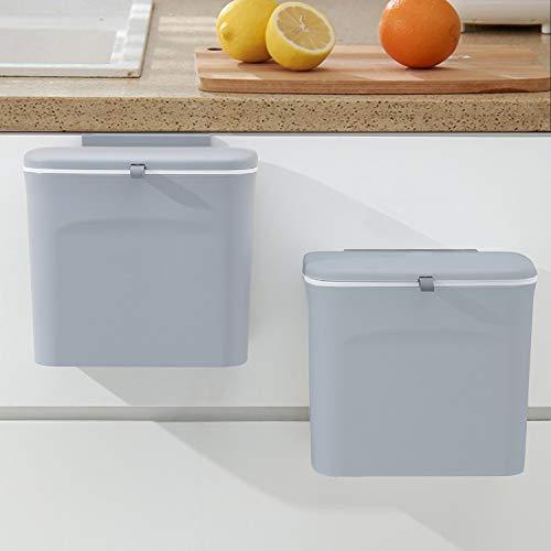 Kitchen Compost Bin, LALASTAR Countertop Compost Bin with Lid, Wall...