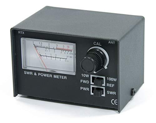 Messgerät für Stehwellenverhältnis und Strom, inklusive Patchkabel (für CB-Funk, 100 W).