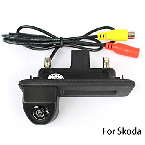 GOFORJUMP CCD HD Voiture Coffre poignée arrière Sauvegarde arrière Parking Vue arrière caméra de recul pour Skoda Superb Roomster Fabia Octavia Yeti pour A/UDI A1 (2012 2014)