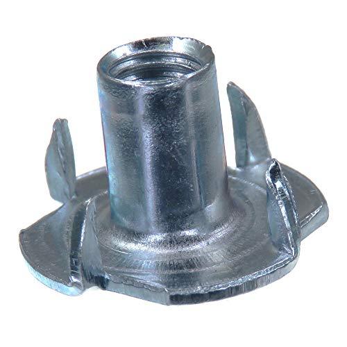 SECCARO Einschlagmutter M6, 12 mm Länge, Stahl verzinkt, 20 Stück