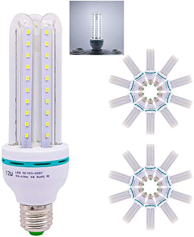 E27 LED Lampe U-Form Glas Glühbirne 12 W LED 1200LM ersetzt 120 W Halogen Leuchtmittel, AC 220 V E27, Kaltwei (6000 Kelvin), Speichern 90% Energie,LED Energiesparlampe, 20 er Pack
