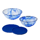 Watercolor Blue 4-pc Mixing Bowl Set | Pyrex