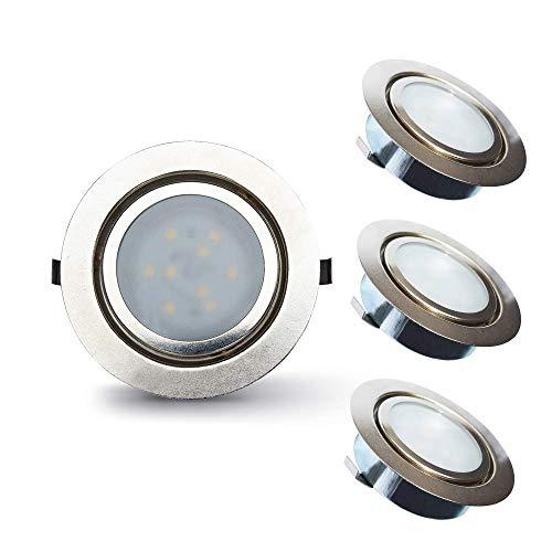 Lampaous 2W Dimmbar LED Möbeleinbauleuchte Einbaustrahler Unterbauleuchten Spot Lampe Warmweiß 230V 3er Set