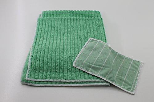 Aqua Clean Bambus-Kristall Bodentücher 2er Plus Optik-/Smartphone-Reinigungstuch
