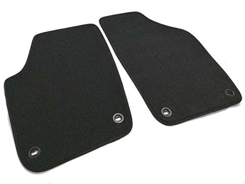 kh Teile Fußmatten passend für Polo 9N Velour Automatte 2-teilig schwarz