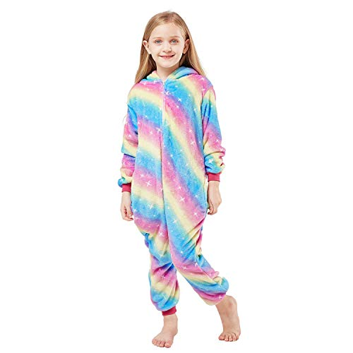Onesies Unicorn Pajamas Unisex Cartoon Costume One Piece Cosplay Sleepwear Gift for Girl or Boys