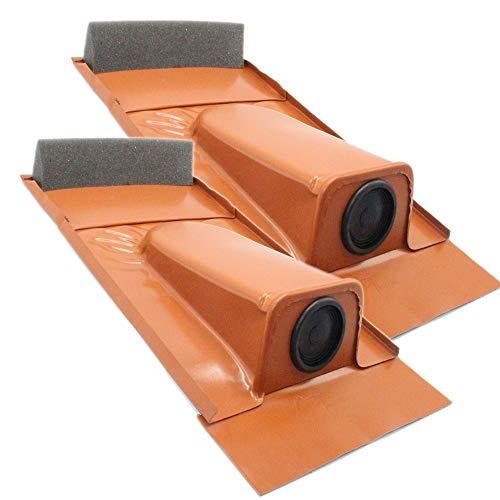 2er-Set Dachdurchführung passend für Tondachziegel, Rot pulverbeschichtet