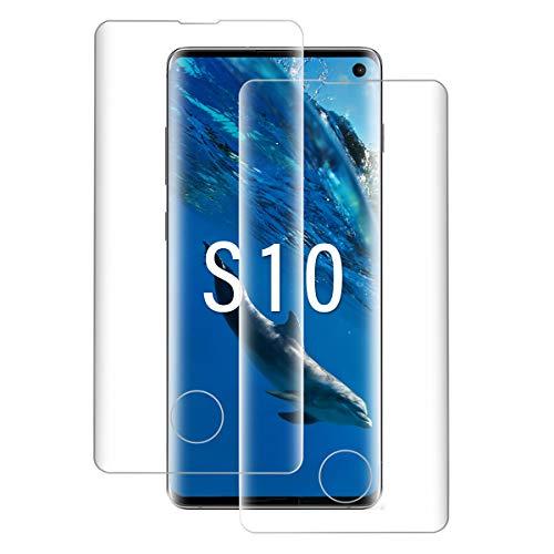 Shalwinn Panzerglasfolie Schutzfolie Kompatibel mit Samsung Galaxy S10, [HD Klar] [9H Härte] [2 Stück] Displayschutzfolie, Anti-Fingerabdruck Panzerfolie, Anti-Kratzen, Anti-Öl Panzerglas folie