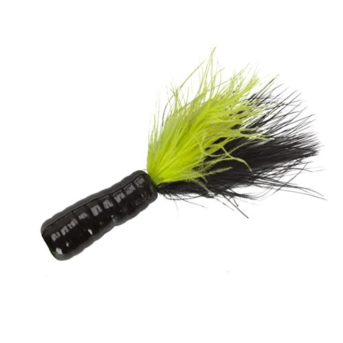 Lindy Fuzz-E Grub Bodies - Black/Chartreuse - 2 in