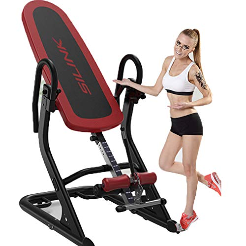 Check Out This BF-DCGUN Gravity Inversion Table Foldable Back Neck Pain Relief Upside Down Stretchin...
