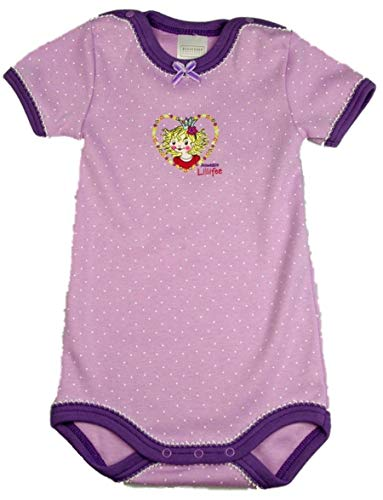 Schiesser baby-body manches courtes pour fille motif princesse lillifee 130410 - Violet - 6 mois