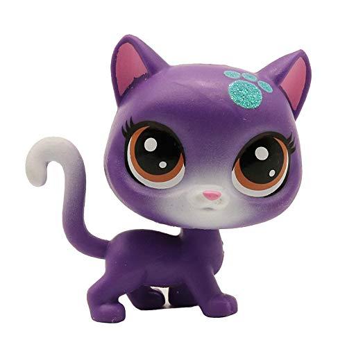 Comprar 5 Obtener 2 Regalos 4-5 cm Suelto Viejo Pet Shop Juguetes Gato Cachorro Figura Mini Figuras de Juguete Clásico Pequeños Juguetes para Mascotas, Purple (Morado) - xb1jAEWB-M7QMEF
