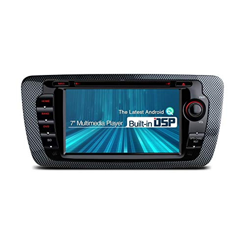 DSP Android 10 Double Din Car Stereo Radio Reproductor de DVD 7 pulgadas Navegación GPS Admite RCA completo AutoPlay MirrorLink Bluetooth 5.0 1080P DVR DAB + OBD para SEAT Ibiza MK4 / 6J (2009-2013)