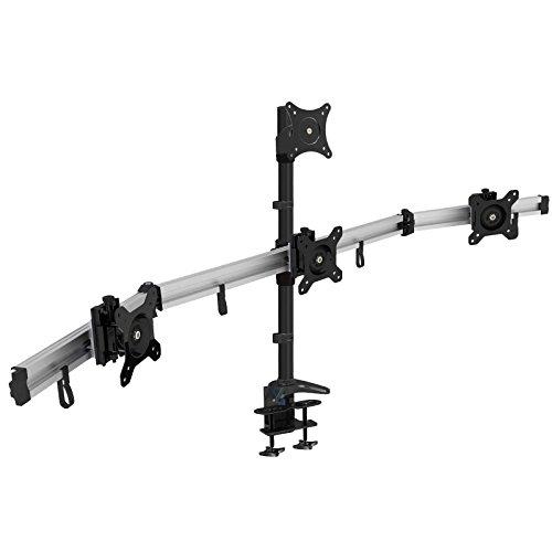 HFTEK 4-Fach-Monitorarm - Tischhalterung für 4 Bildschirme von 15 – 27 Zoll mit VESA 75/100 (MP234C-L)