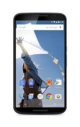 Motorola Nexus 6 GSM Unlocked Smartphone, 64GB, 6' Screen, Dual Front-facing Stereo Speakers - Midnight Blue (International)