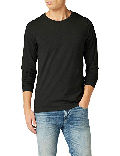 JACK & JONES Herren Langarmshirt 12059220 Basic O-Neck Tee, Gr. 50 (M), Schwarz (BLACK)