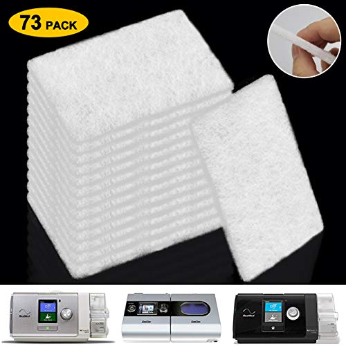 CPAP Filters ResMed Disposable Air Filter, 73 Pack Universal Replacement Filter Fits ResMed Airsense10, Aircurve10, Airstart,ResMed S9 Series CPAP Standard Machines
