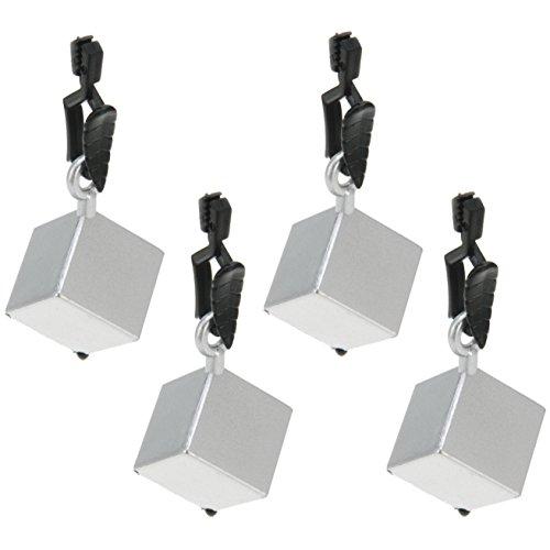 Venilia Würfel Tischtuchbeschwerer Clip Tischtuchhalter Tischdeckengewichte aus PVC und Metall, Silber, 8 x 2,5 x 2,5 cm, 54203