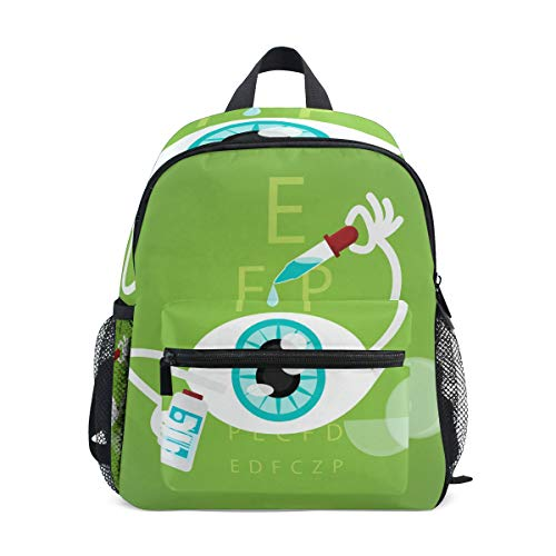 ALINLO Schultasche Lustige Cartoon Augentropfen Vorschulrucksäcke Kinder Reise Daypack für Jungen Mädchen