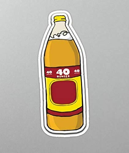 Old Olde English 800 40 ounces oz Bottle Classic Beer Vinyl Die Cut Sticker Set of 4