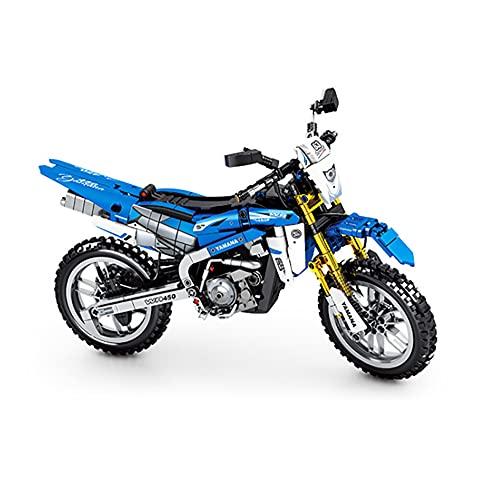 WANGCHAO Bloques de construcción de Motocicletas, Kit de construcción de Motocicleta mecánica de 702 Piezas, Kit de construcción de Motos, Compatible con Lego Technic (32.5x20.9x13.1cm)