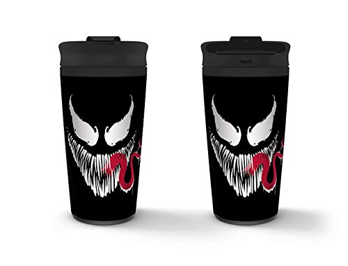 Venom - Taza Metálica De Viaje Face, 425 ML