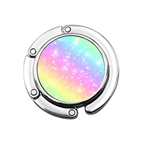 Colorido Sirena Inteligente Arco Iris Colgador Colgador de Mesa Organizador de Monedero Diseños únicos Sección Plegable Colgador de Almacenamiento Organizador de Monedero