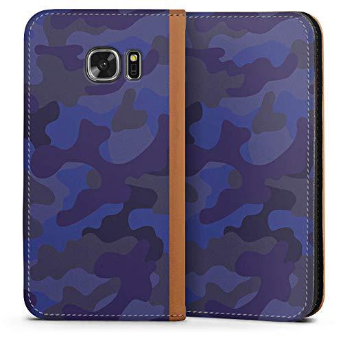 DeinDesign Leder Flip Case kompatibel mit Samsung Galaxy S7 Tasche Hülle Camouflage Bundeswehr Men Style