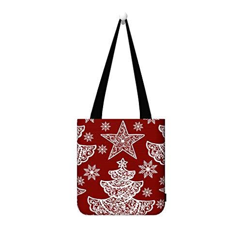 CHSYT Kerstmis bloem boom ster rood wit sneeuw zeildoek mosttas handtassen vrouwen dode reizen multifunctionele tiener grote rugzak goedkoop