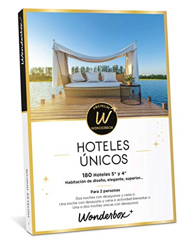 WONDERBOX Caja Regalo - HOTELES ÚNICOS - una Noche con Desayuno o más Opciones a Elegir Entre 130 hoteles de 4* y 5* para Dos Personas.