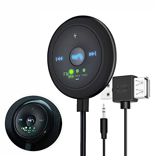 TINYOUTH USB FM Transmitter, Bluetooth FM Receiver Car Audio Transmitter...